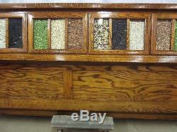 nice kitchen tables pictures of backsplashes beautiful restored 18 drawer antique sherer oak seed bean ...