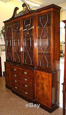 Best Quality Old Baker Chippendale Mahogany Breakfront