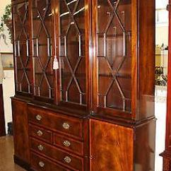 American Made Kitchen Cabinets Safe Shoes Best Quality Old Baker Chippendale Mahogany Breakfront ...