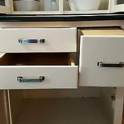 Mission Style Kitchen Table Contemporary Chairs Rare Junior Hoosier Cabinet Glass Front Doors, Bread ...