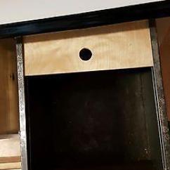 Vintage Kitchen Hutch Hood Cleaning Rare Junior Hoosier Cabinet Glass Front Doors, Bread ...
