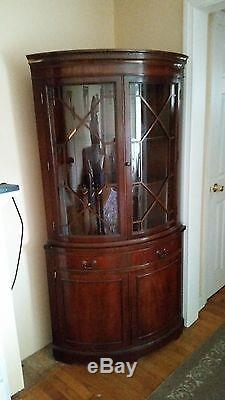 kitchen sideboards menards design vintage 1940's 1950's mahogany corner china curio cabinet