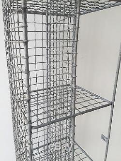 Vintage Pigeon Hole Corner Unit Mesh Wire Bathroom Shoe Rack Cupboard Storage
