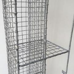 Antique Kitchen Hutch Small Dishwashers Vintage Pigeon Hole Corner Unit Mesh Wire Bathroom Shoe ...