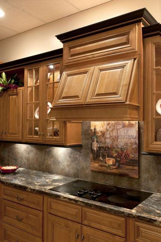 Mocha with a dark glaze Kitchen Cabinets Detroit  MI