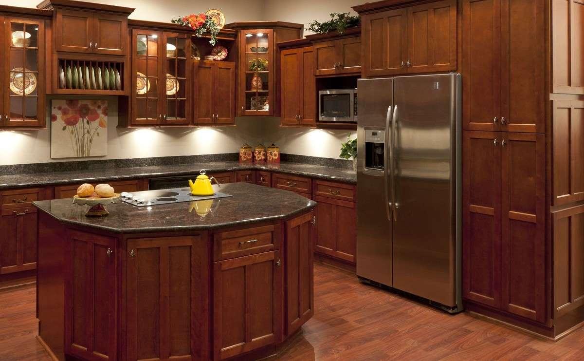 Shaker Cherry Kitchen Cabinets Detroit  MI Cabinets