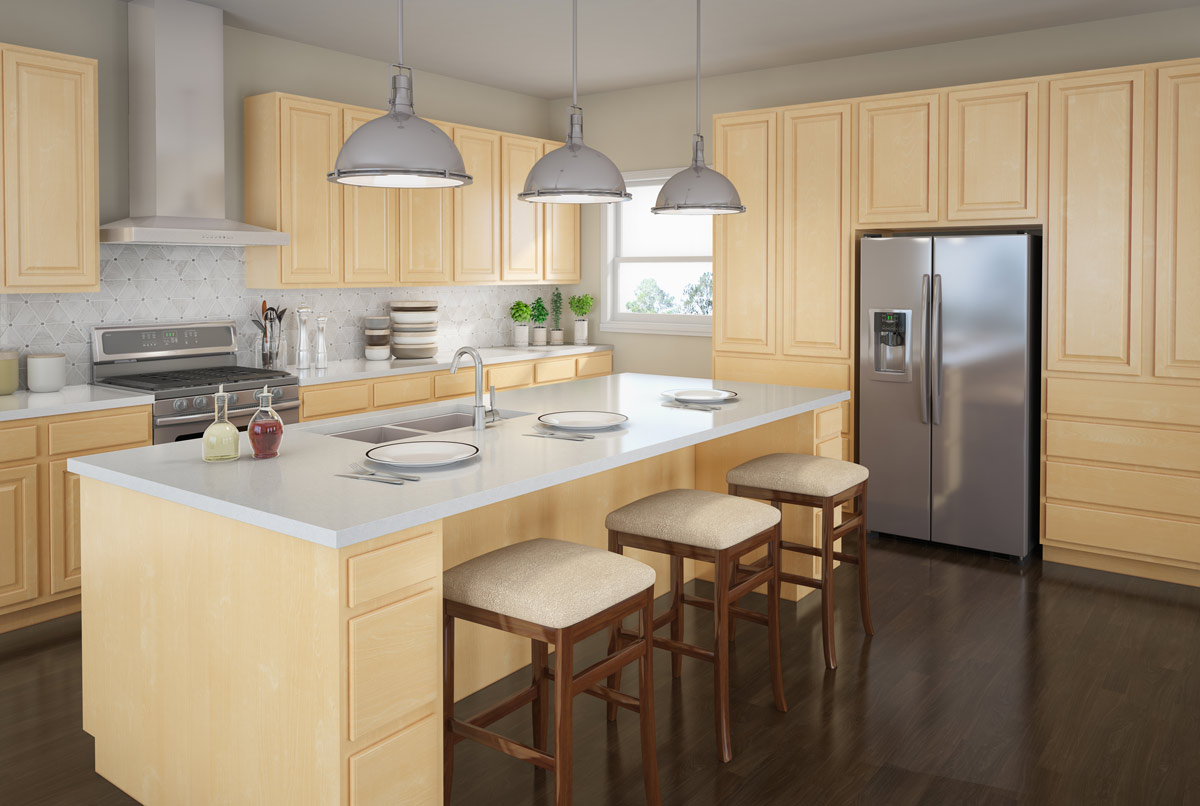 slab kitchen cabinets remodel budget touraine birch detroit mi