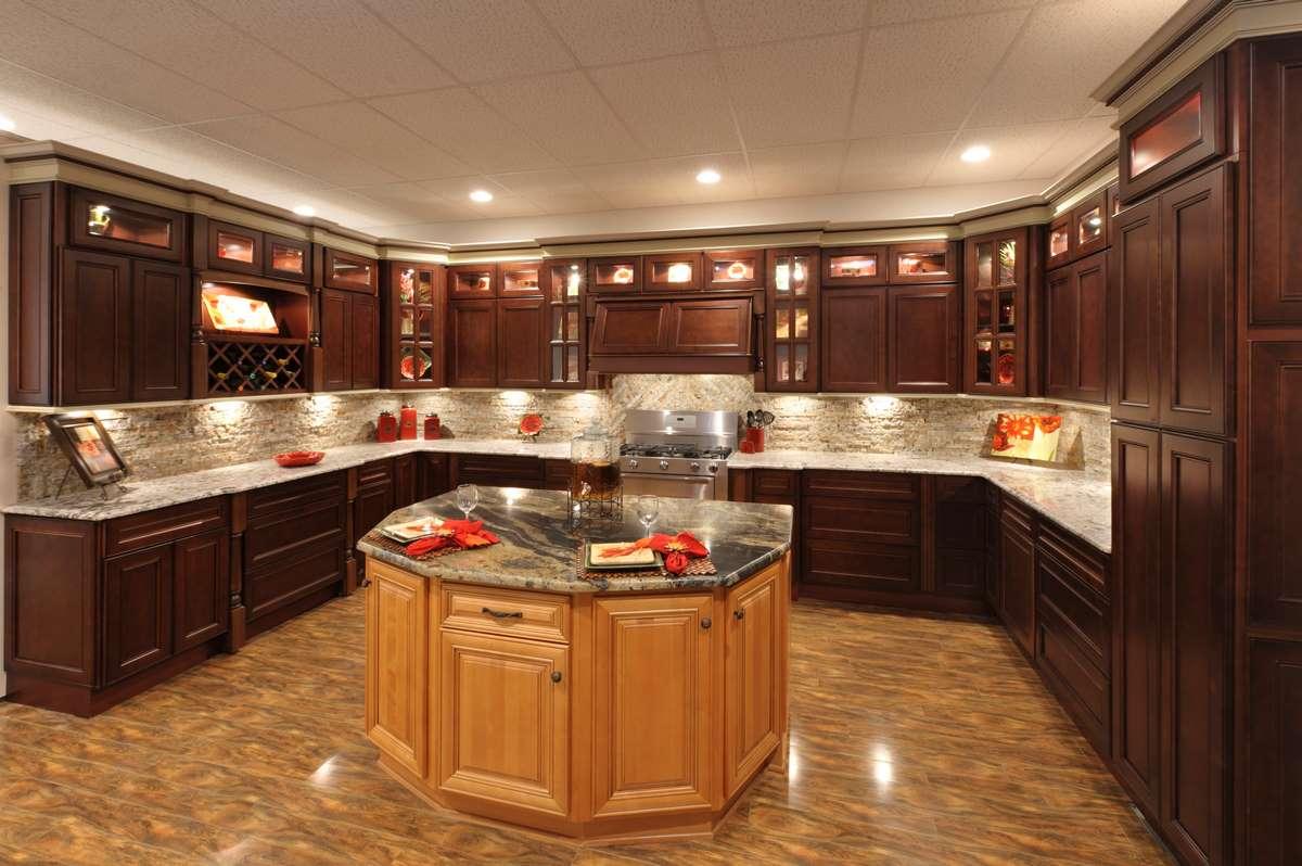 coffee color kitchen cabinets kitchens york detroit mi