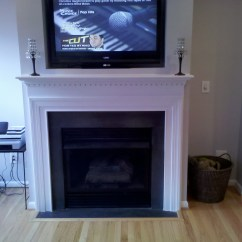 Office Chair Repair Ball With Arms Floating Shelves And Fireplace Mantel | Mazzaferro Design-build Services, Inc.