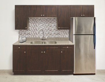 Select Huntsville Chocolate Pear In-Law Suite Kitchen
