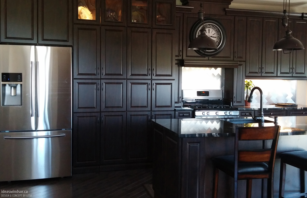 Gallery photos of cabinetsmith canadian made kitchen for Chocolate pear kitchen cabinets