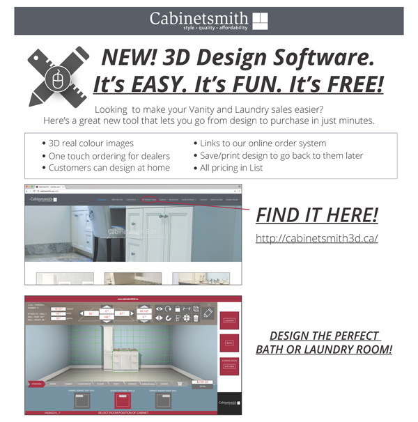 Kitchens cabinetsmith proud canadian cabinet manufacturer for 3d bathroom design tool