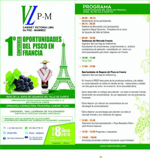 1era Conferencia Oportunidades del Pisco en Francia (1)