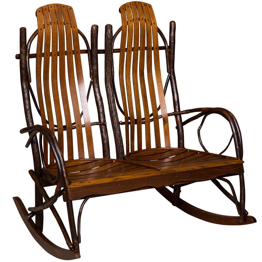 Amish Rocking Chair Hickory Double Amish Rocking Chair