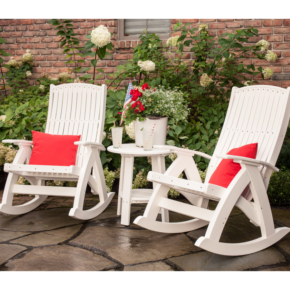 Outdoor Rocking Chair Set Comfort Poly Amish Outdoor Rocking Chair Set Of 2
