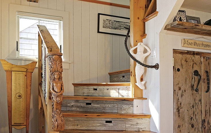 7 Unique Stairs Ideas To Spark Your Cabin Inspiration | Staircases For Small Cottages | Open | Small Footprint | Skinny | Corner | Wooden