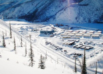A 2006 view of the Prairie Creek mine site - Canadian Zinc Corporation