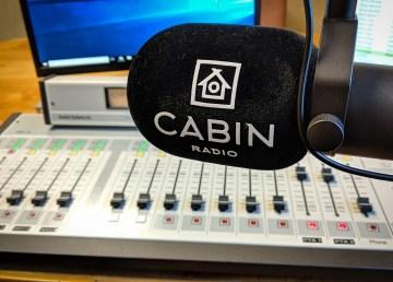 A Cabin Radio microphone in Studio 1