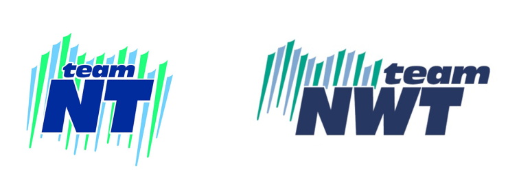 A new Team NT logo is compared with the older Team NWT design