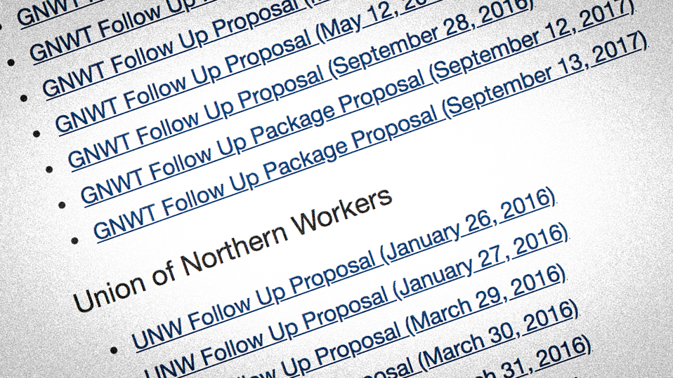 Clock may be ticking as GNWT and UNW resume bargaining