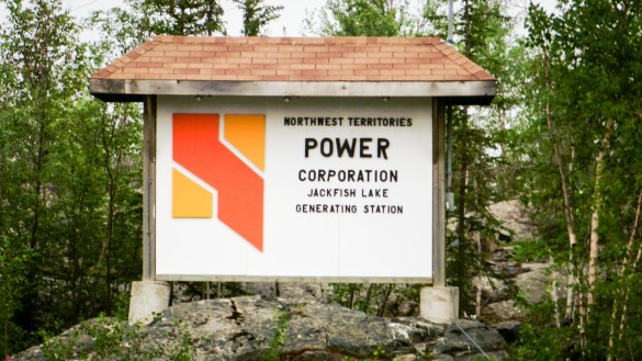 A Northwest Territories Power Corporation Sign at Jackfish Lake - Alan Sim-Flickr