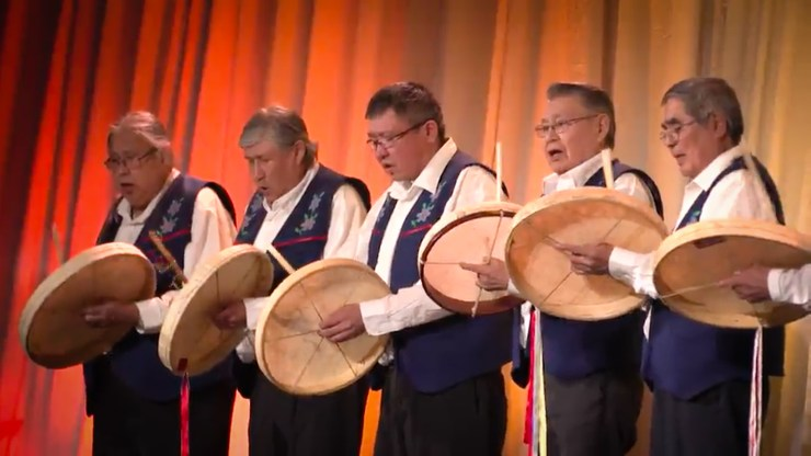 Drummers at the 2018 Arctic Winter Games opening ceremony - AWG