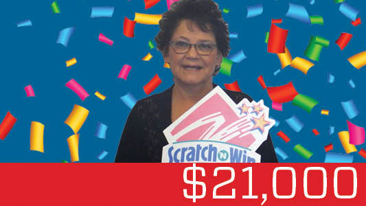 Yellowknife woman scoops $21,000 birthday scratch win