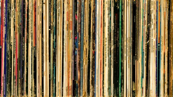 A collection of vinyl records