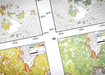 Maps published in a 2018 research paper display burn area characteristics related to the NWT's 2014 wildfires