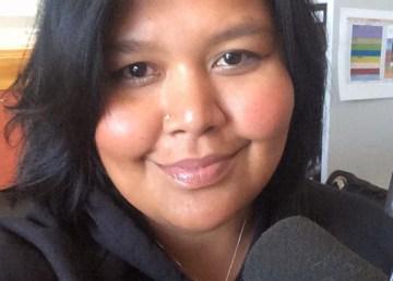 Nadira Begg pictured in the CKLB studio