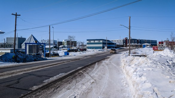 A file photo showing a general view of Inuvik in April 2018