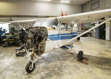 Northwestern Air Lease recently purchased a Cessna 172 for its aviation school. The plane in undergoing a $100,000 upgrade, which includes a new engine, instrumentation, windows, paint, and interior