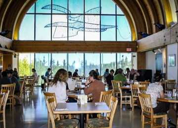 A view of Museum Café inside the Prince of Wales Northern Heritage Centre