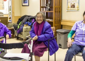 Elders and staff at the Jimmy Erasmus Senior Home in Behchokǫ