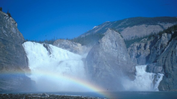 Náįlįcho (Virginia Falls) is one of the most popular destinations on the Nahanni River. Nearly 1300 people visit the site annually. Photo: Parks Canada