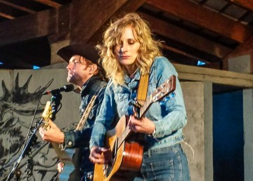 Whitehorse on stage at Folk on the Rocks 2018