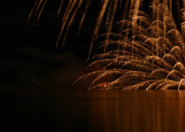 A file photo of fireworks. Sarah Pruys/Cabin Radio.