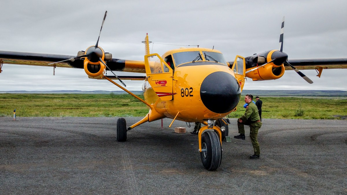 Replacing Twin Otters up in the air as Rangers receive rifles