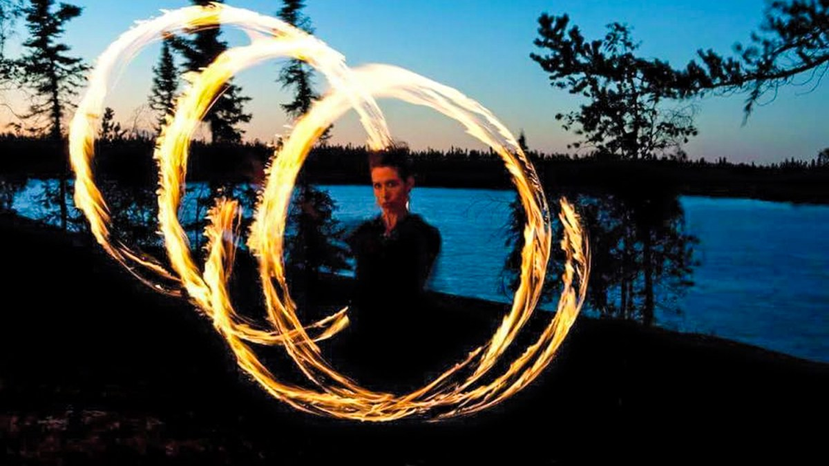 Dump and chase: Yellowknifer's frantic fire spinning rummage