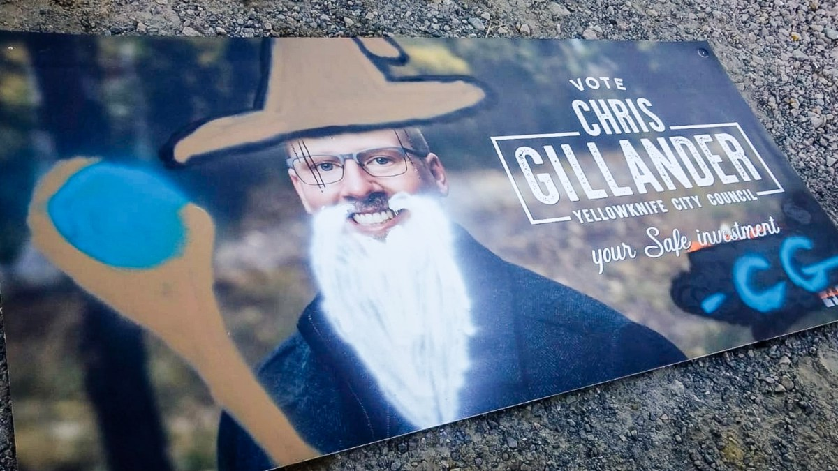 To defeat vandals, election candidate becomes wizard