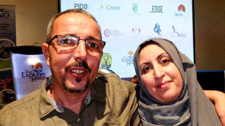 Tarik Abid and his wife, Lilia Abid, at CDETNO's 15th anniversary