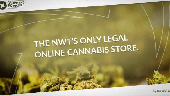A screengrab of the NWT's cannabis website
