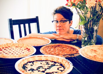 Adrienne and various types of pie