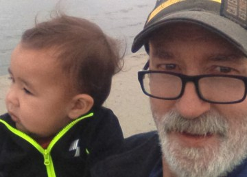 A submitted photo of Sean Whelly with his grandson.