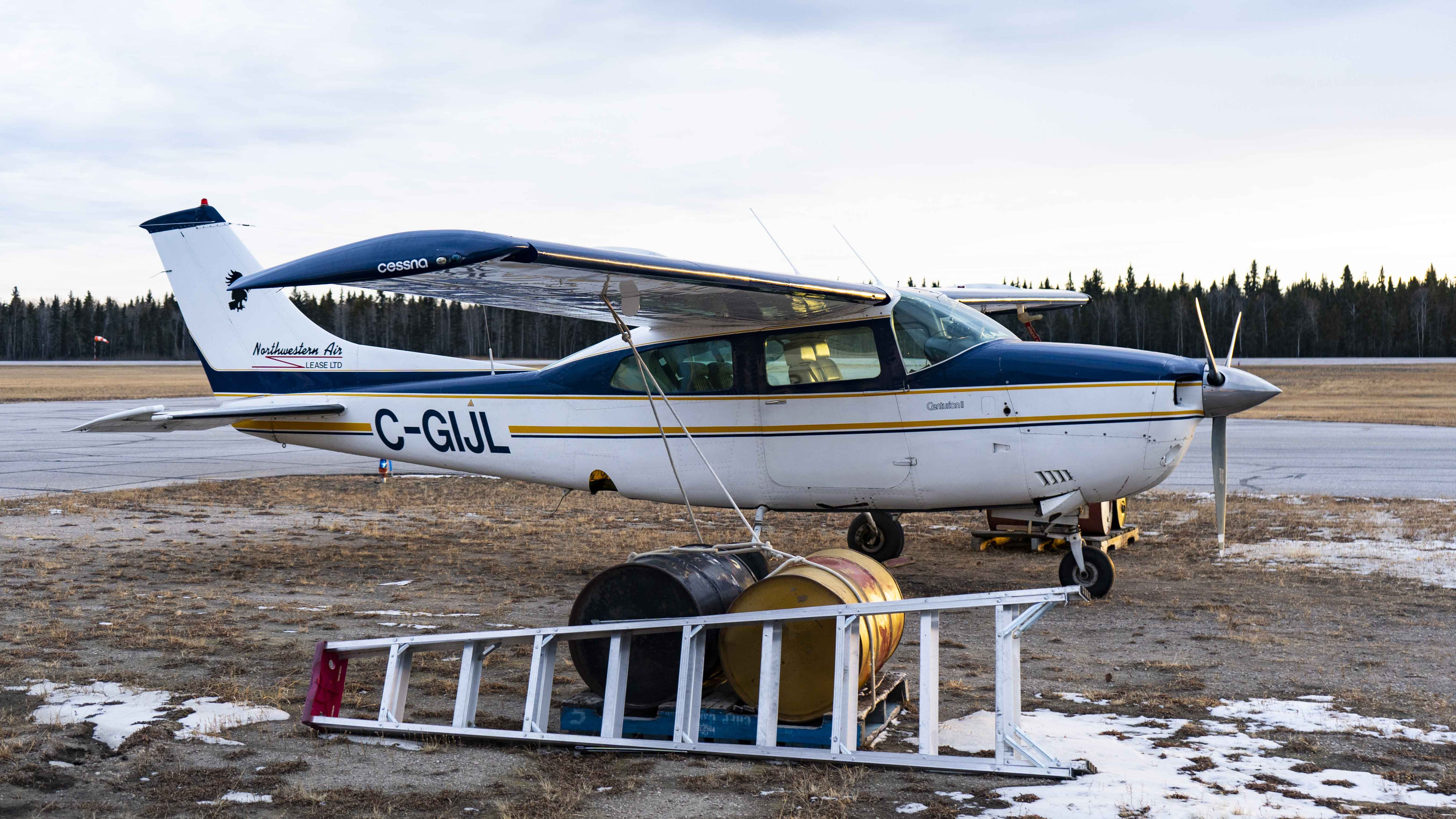 A file photo of Northwestern Air Lease's Cessna 210 in