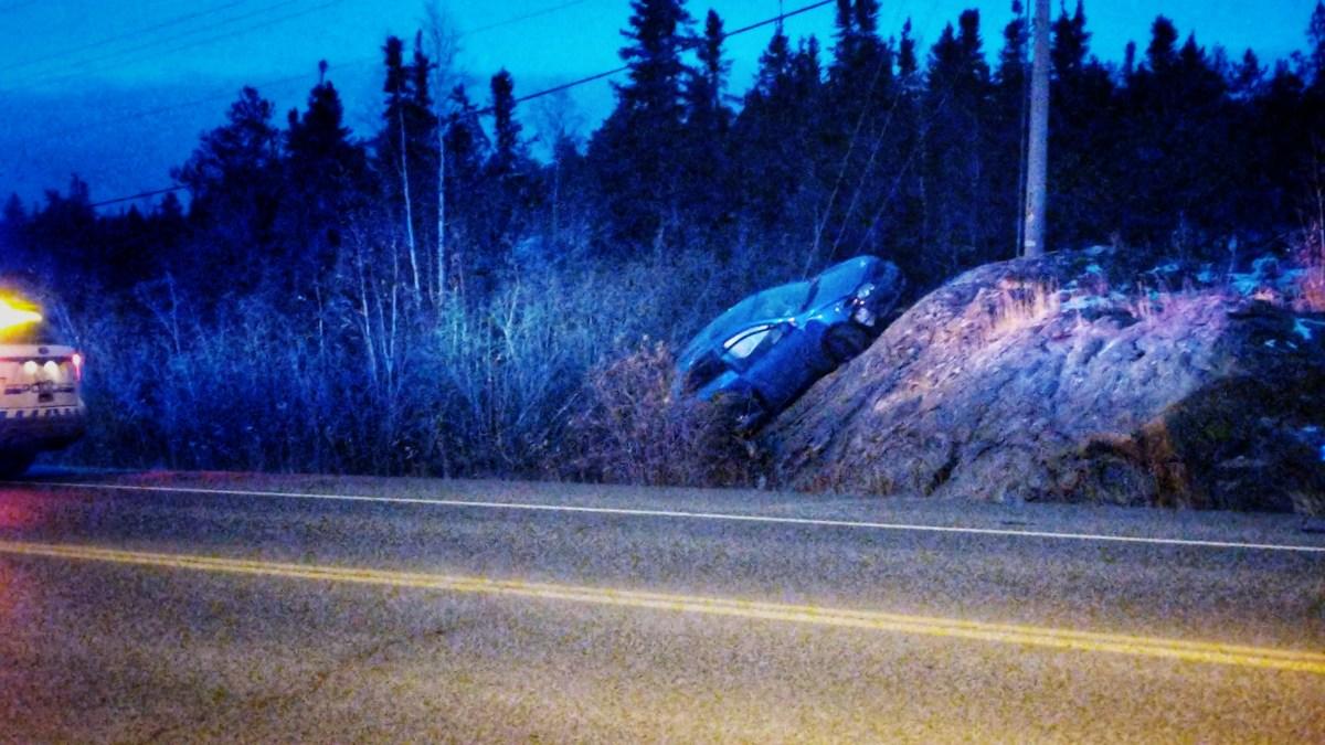 Mystery of car beached on Yellowknife rockface