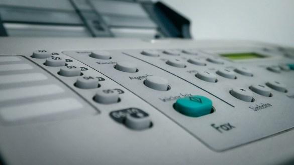 A file photo of a fax machine