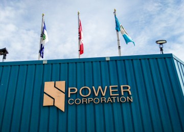 A file photo of the NWT Power Corporation building in Hay River