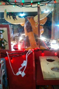 A view of Santa's muffaloose from inside the sleigh