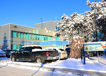 A file photo of Yellowknife's RCMP detachment